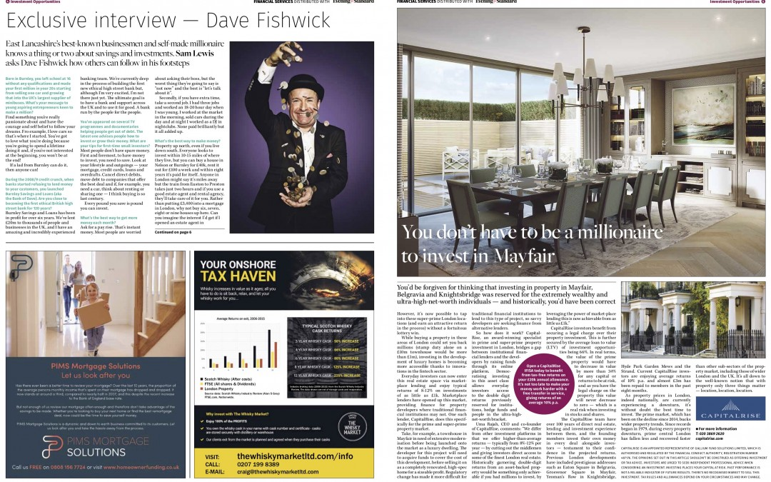 Interview with Dave Fishwick, Finance supplement, Evening Standard, Oct 2018