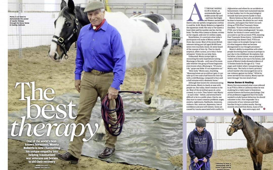 Monty Roberts & War Veterans, Your Horse Magazine, March 2018